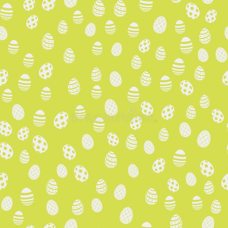 Modello senza cuciture di Pasqua con le uova su fondo verde Vettore royalty illustrazione gratis