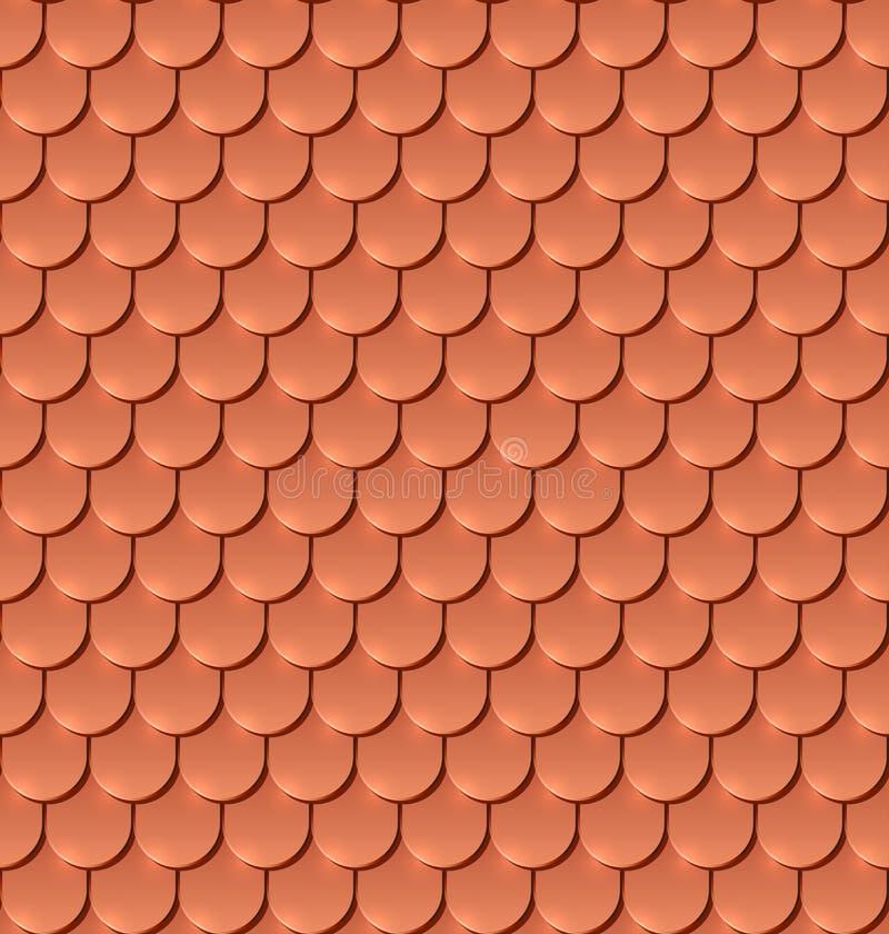 Modello senza cuciture di rame del tetto di mattonelle royalty illustrazione gratis