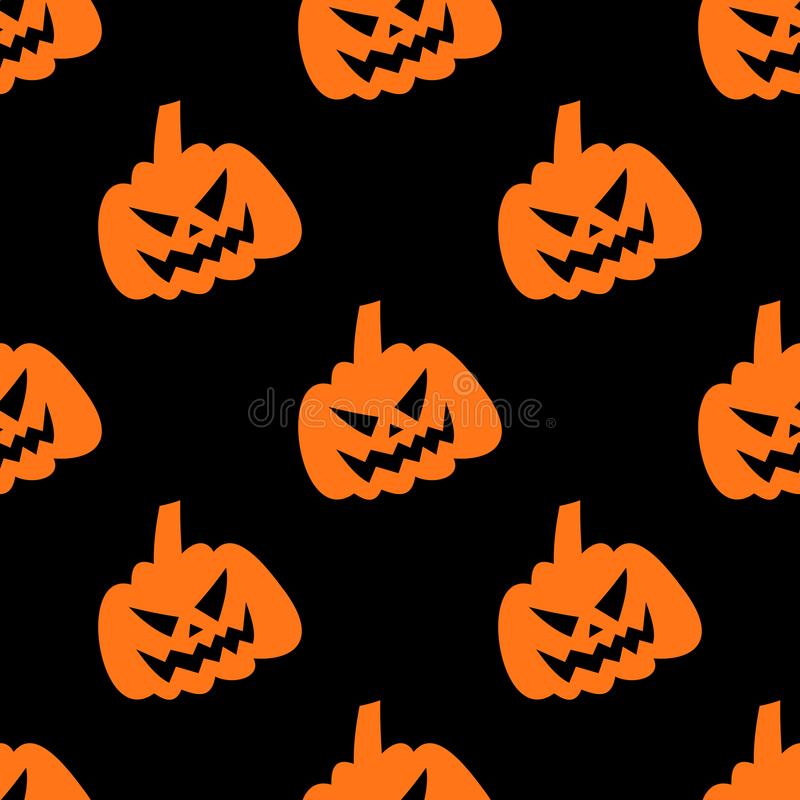 Modello senza cuciture di risata della zucca di Halloween royalty illustrazione gratis