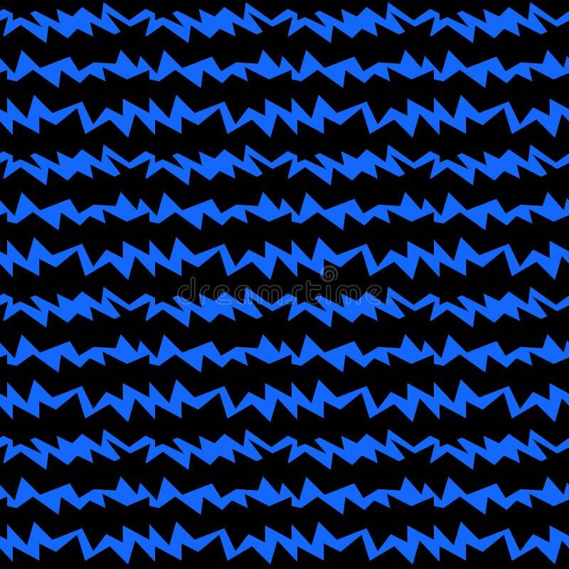 Modello senza cuciture di rumore blu delle onde sonore illustrazione di stock