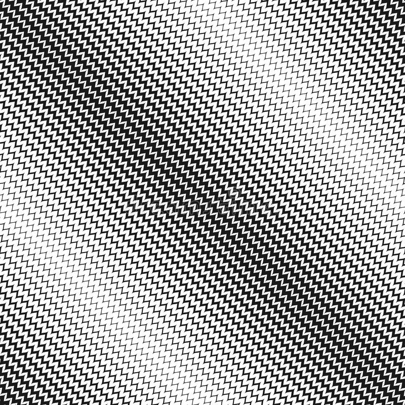 Modello senza cuciture di semitono di vettore Linee diagonali di zigzag illustrazione di stock