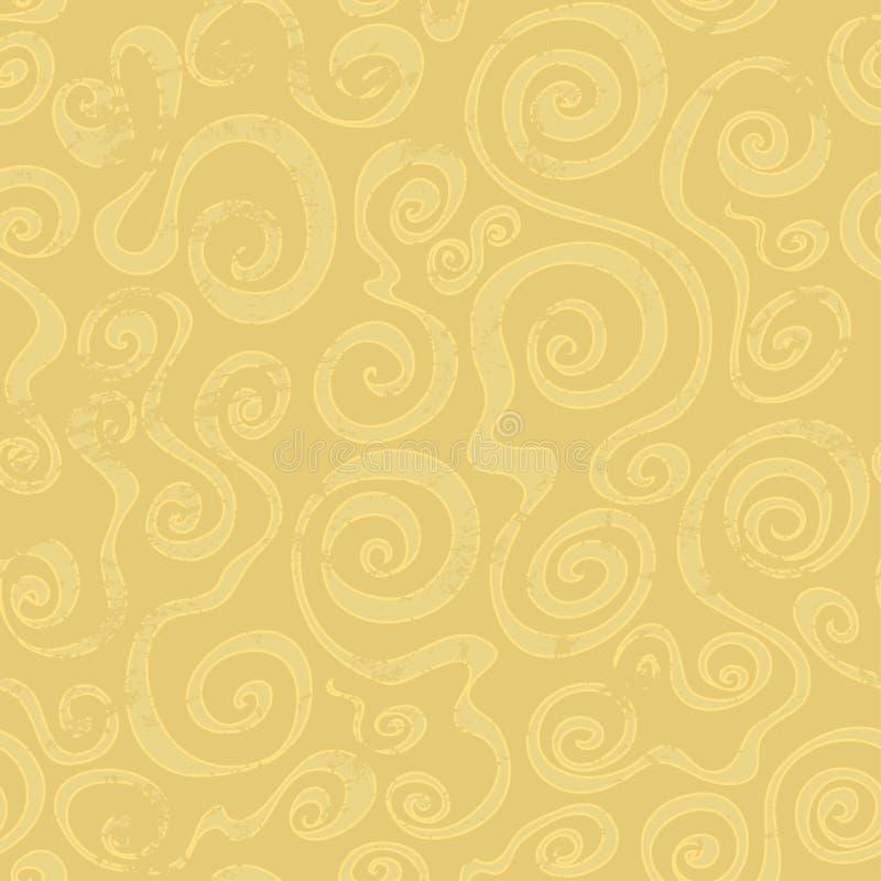 Modello senza cuciture di spirale astratta della sabbia