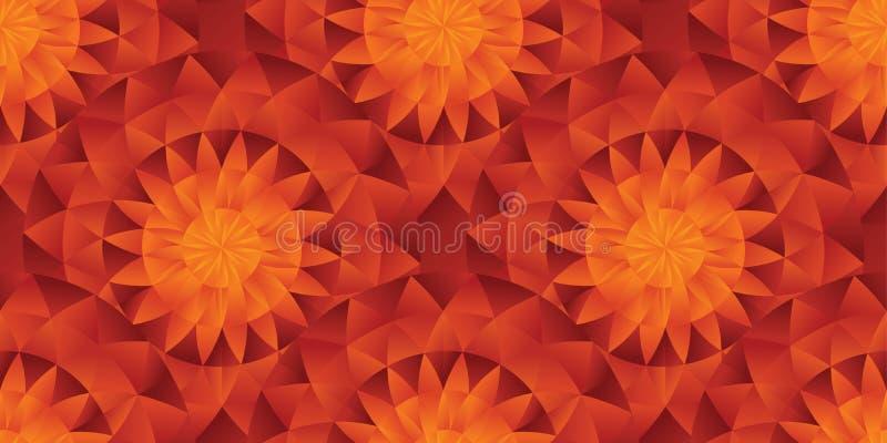Modello senza cuciture di stile del sole piega caldo dell'estratto illustrazione vettoriale