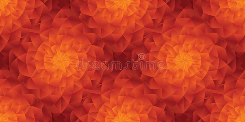Modello senza cuciture di stile del sole piega caldo dell'estratto illustrazione di stock
