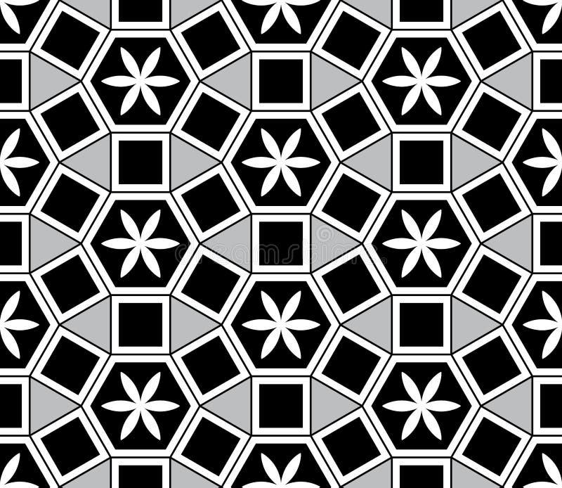 Modello senza cuciture di stile di Mosaic Le Domus Romane royalty illustrazione gratis