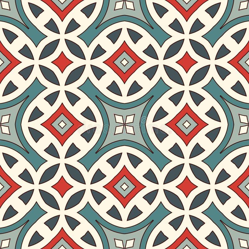 Modello senza cuciture di stile etnico Fondo astratto dei nativi americani Motivo tribale Carta digitale elegante di Boho illustrazione vettoriale