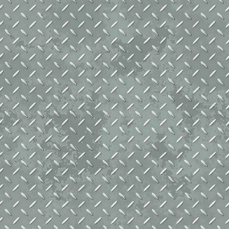 Modello senza cuciture di struttura del piatto del diamante illustrazione vettoriale