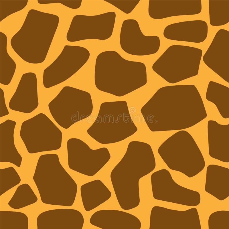 Modello senza cuciture di struttura della pelle della giraffa illustrazione vettoriale