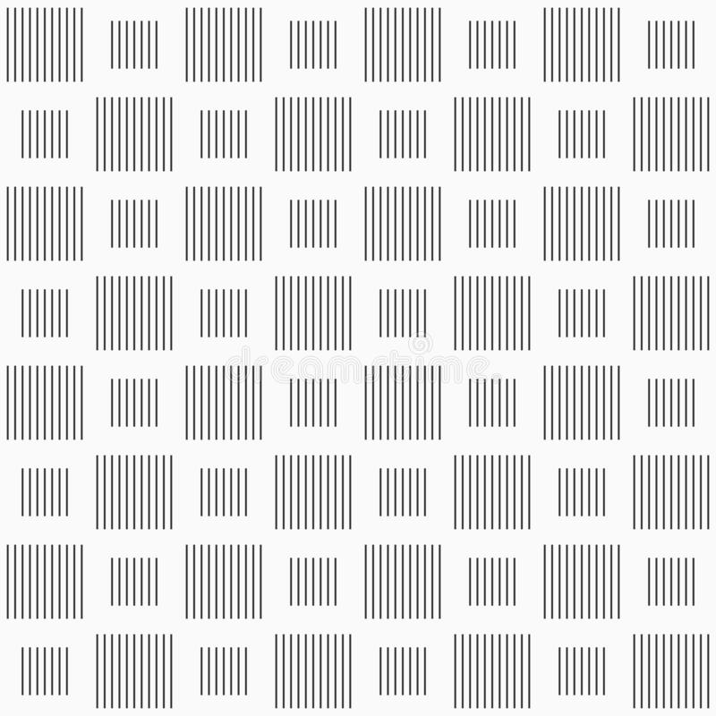 Modello senza cuciture di vettore dei quadrati a strisce Righe verticali royalty illustrazione gratis