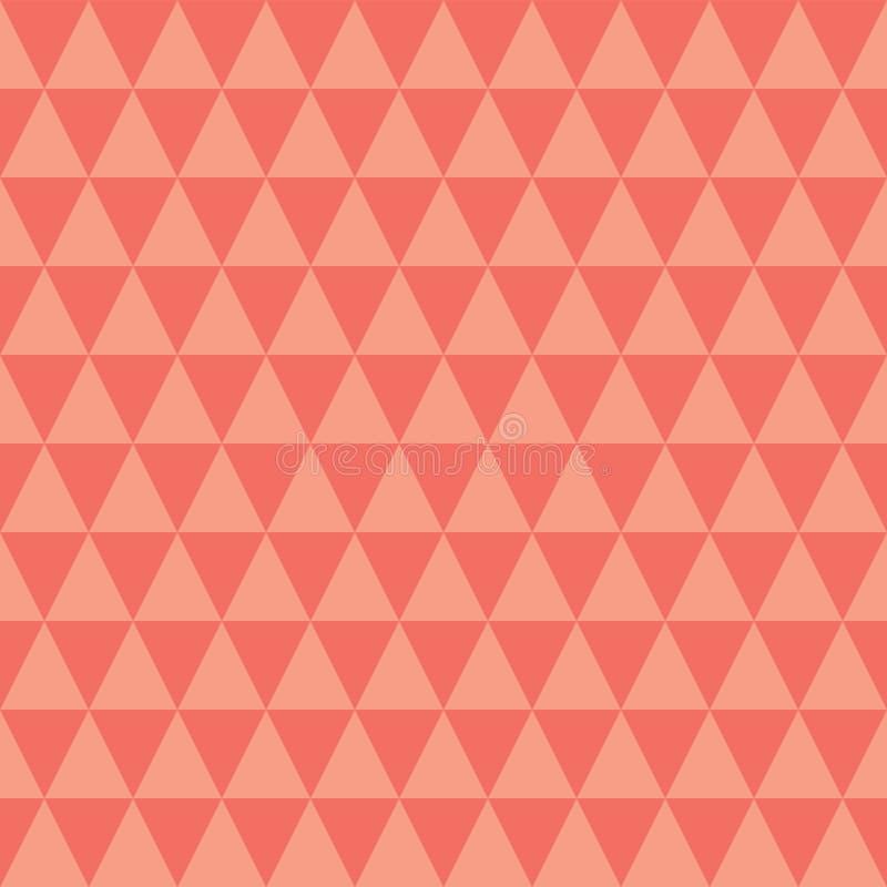 Modello senza cuciture di vettore dei triangoli della pesca e del corallo royalty illustrazione gratis