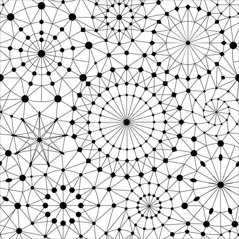 MODELLO SENZA CUCITURE DI VETTORE DEL CIELO STELLATO STRUTTURA GEOMETRICA DI ASTRONOMIA illustrazione di stock