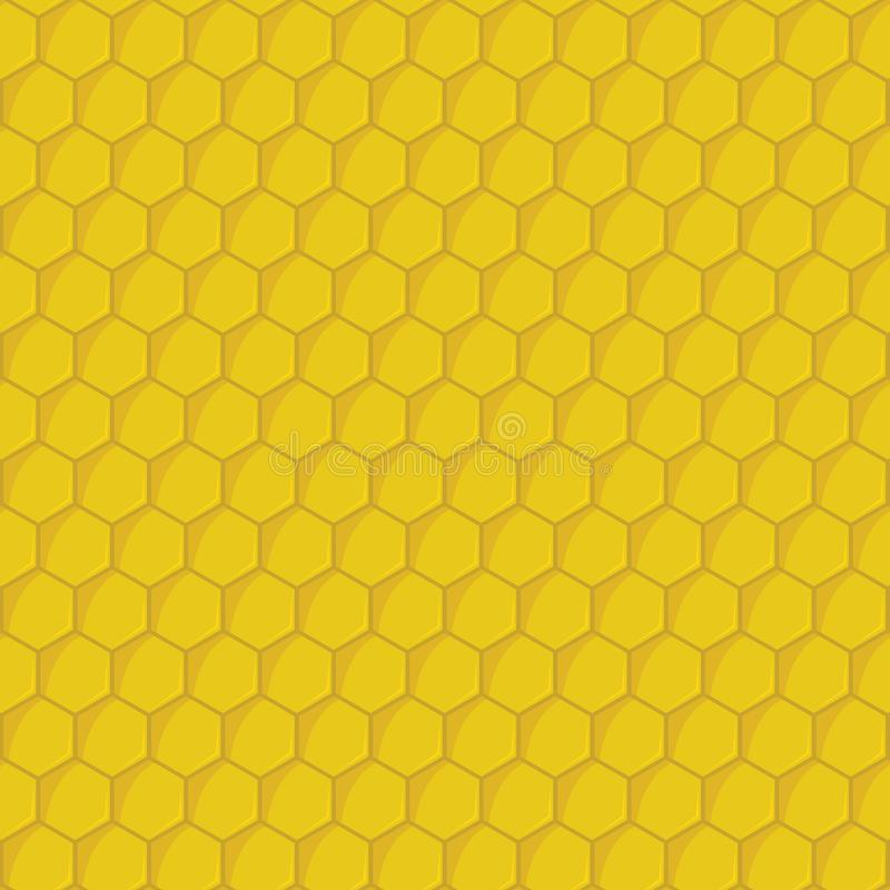 Modello senza cuciture di vettore del fumetto di esagoni gialli del favo illustrazione vettoriale