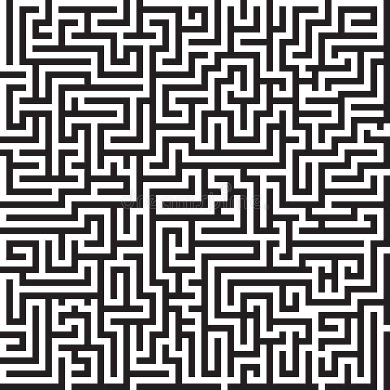 Modello senza cuciture di vettore del labirinto illustrazione di stock