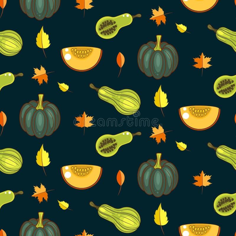 Modello senza cuciture di vettore del raccolto di autunno royalty illustrazione gratis