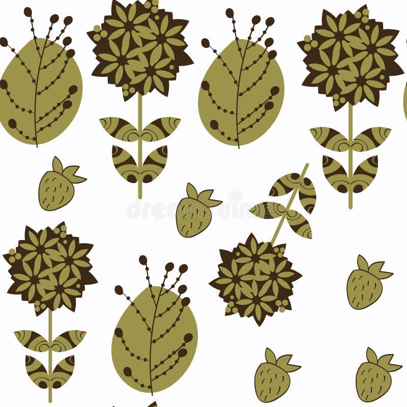 Modello senza cuciture di vettore delicato floreale astratto È individua dentro illustrazione vettoriale