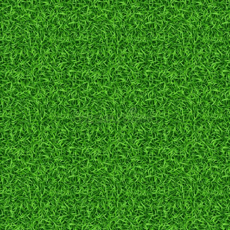 Modello senza cuciture di vettore dell'erba verde illustrazione di stock