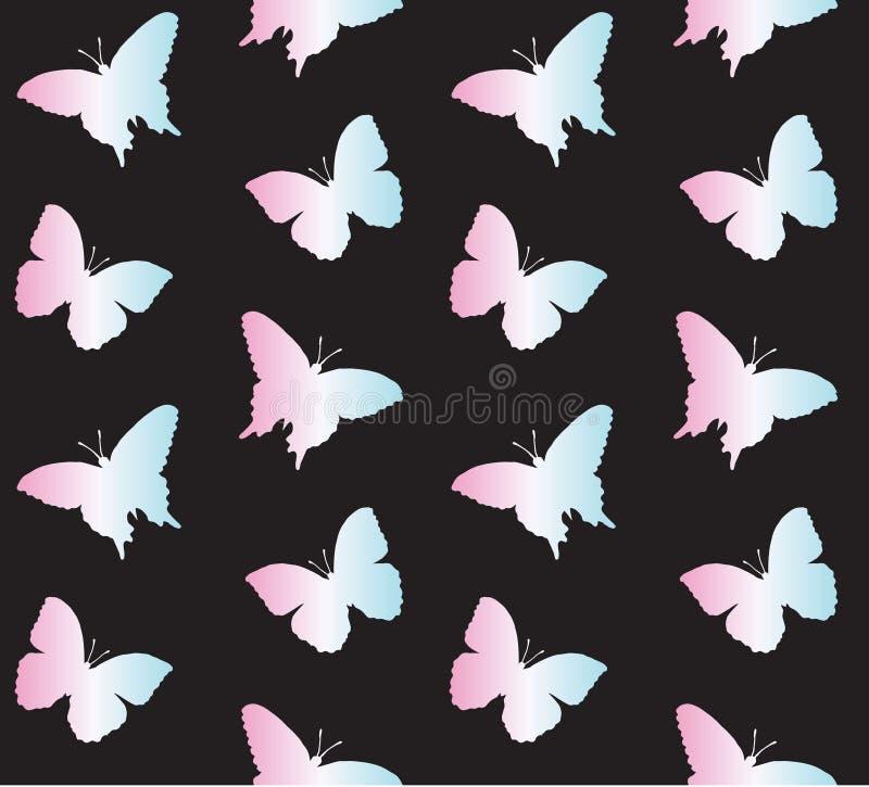 Modello senza cuciture di vettore della farfalla olografica illustrazione vettoriale