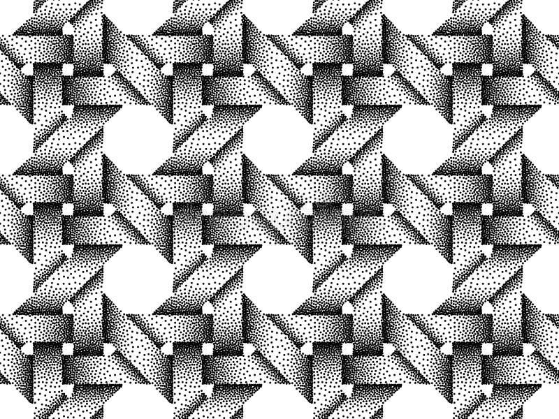 Modello senza cuciture di vettore delle barre tessute Struttura di Stipple illustrazione di stock