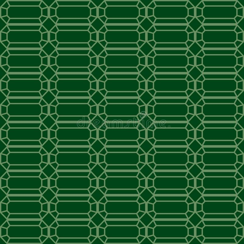 Modello senza cuciture di vettore dello smeraldo illustrazione di stock