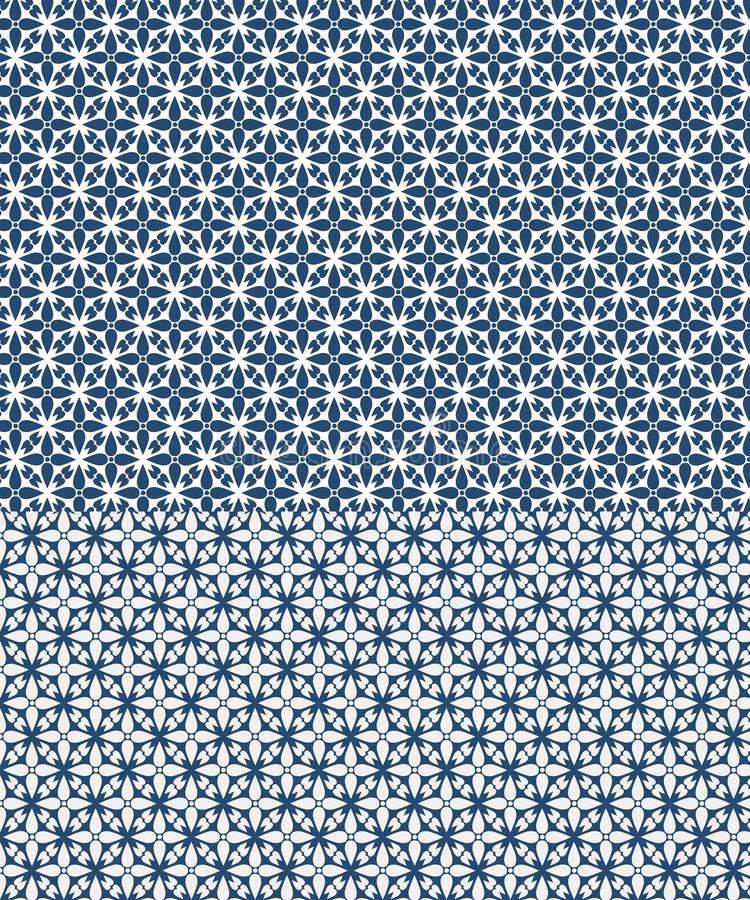 Modello senza cuciture di vettore floreale ispirato dai azulejos illustrazione vettoriale