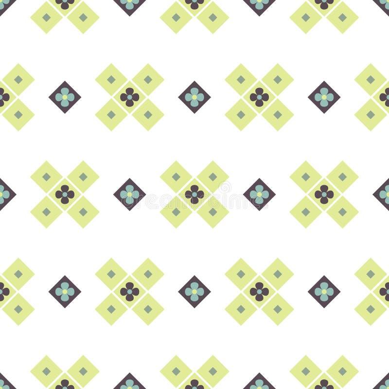 Modello senza cuciture di vettore di forme geometriche Il blocco trasversale astratto modella il fondo illustrazione vettoriale