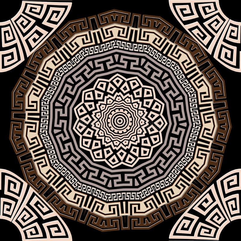 Modello senza cuciture di vettore greco elegante Fondo geometrico variopinto delle mandale Contesto decorativo di ripetizione ant royalty illustrazione gratis