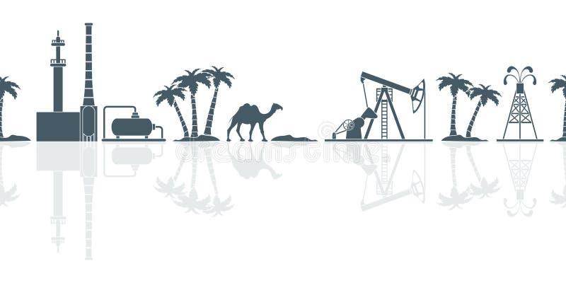 Modello senza cuciture di vettore di industria petrolifera royalty illustrazione gratis