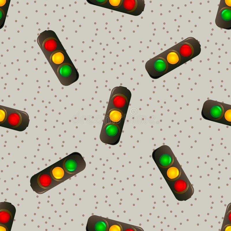 Modello senza cuciture di vettore di semaforo per i webmaster ed i tessuti royalty illustrazione gratis
