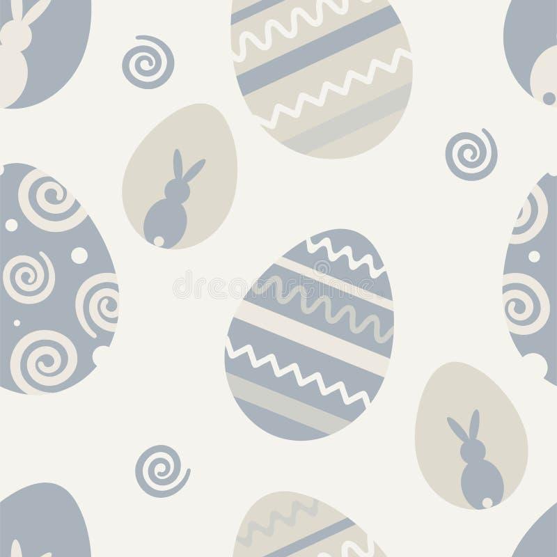 Modello senza cuciture di vettore sul tema di Pasqua e della molla Illustrazione del fumetto illustrazione vettoriale