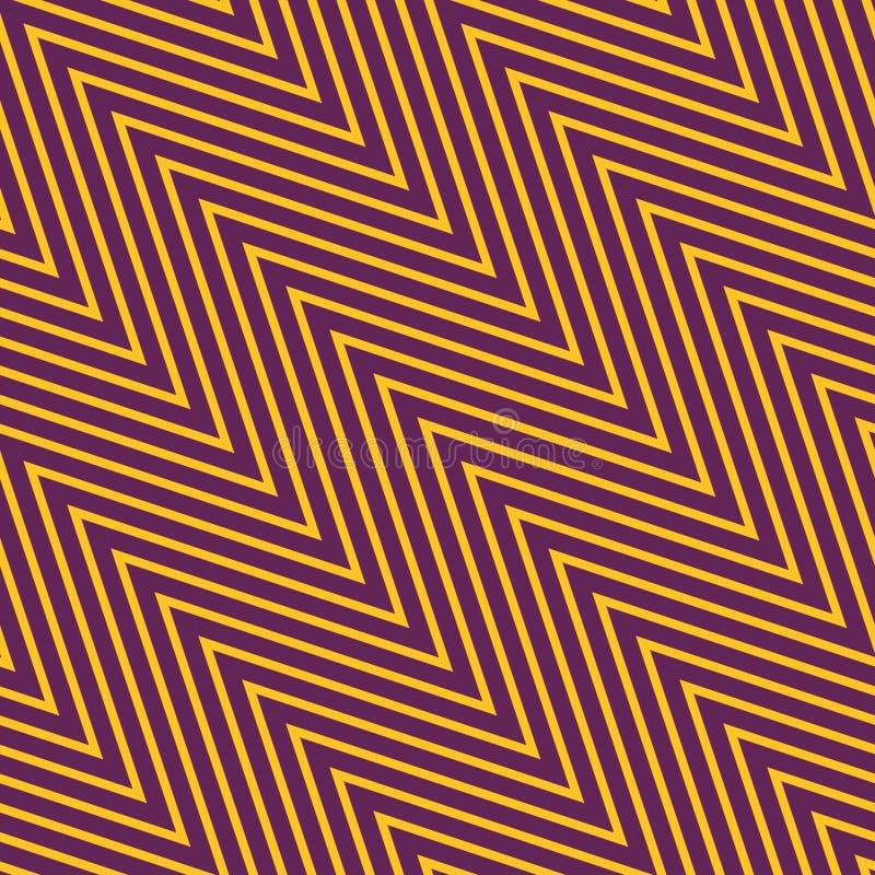 Modello senza cuciture di vettore di zigzag con le linee diagonali sottili, bande, gallone royalty illustrazione gratis
