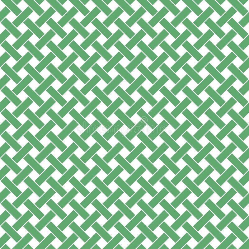 Modello senza cuciture di vimini diagonale illustrazione vettoriale