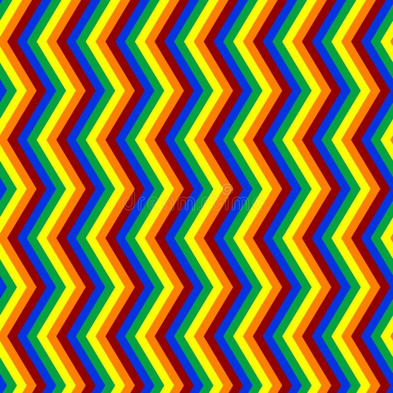 Modello senza cuciture di zigzag molto luminoso di colore illustrazione vettoriale