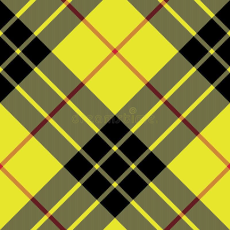 Modello senza cuciture diagonale del plaid di struttura del tessuto del kilt del tartan di Macleod royalty illustrazione gratis