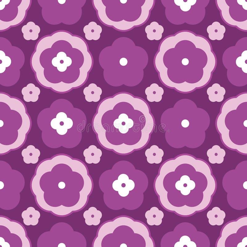 Modello senza cuciture differente di stile del fiore illustrazione vettoriale