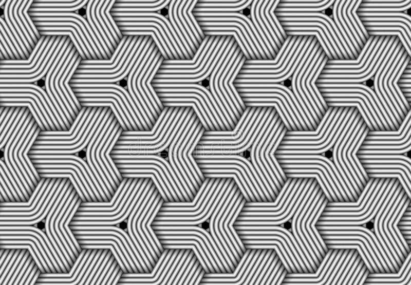 Modello senza cuciture esagonale di vettore di fibra tessuta royalty illustrazione gratis