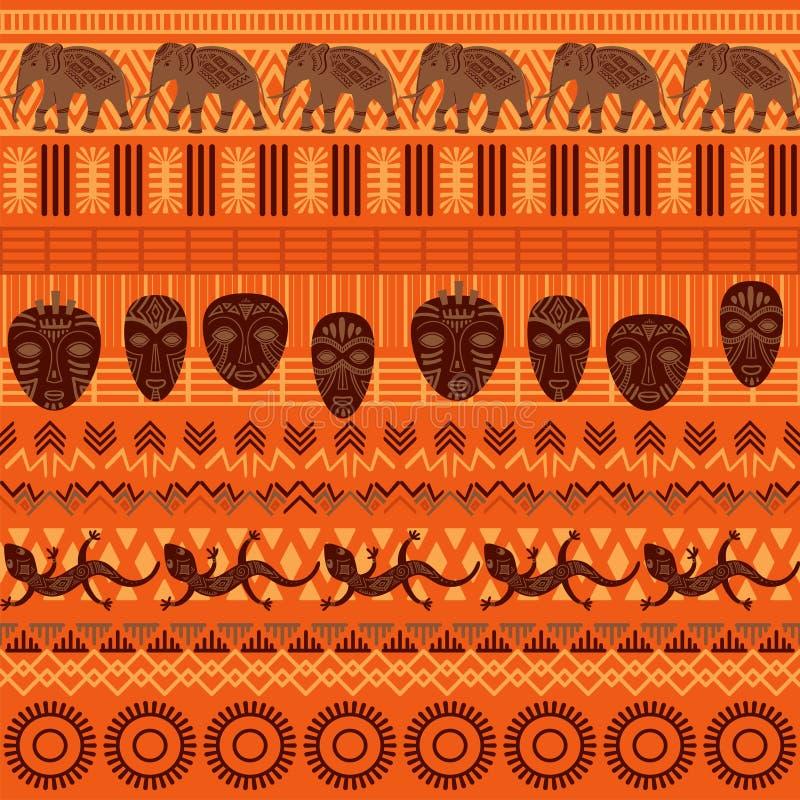 Modello senza cuciture etnico tribale illustrazione di stock