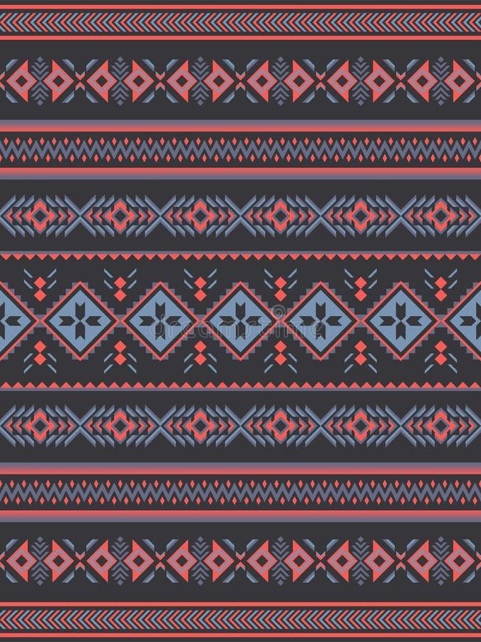 Modello senza cuciture etnico tribale Progettazione geometrica illustrazione di stock