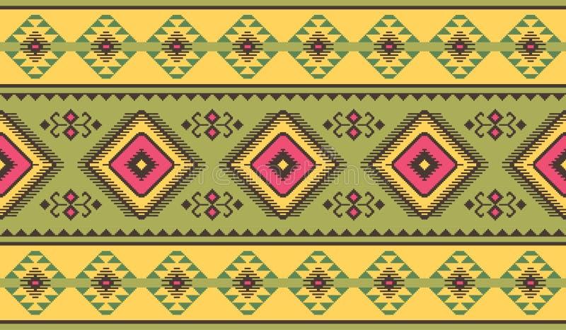 Modello senza cuciture etnico tribale Progettazione geometrica royalty illustrazione gratis