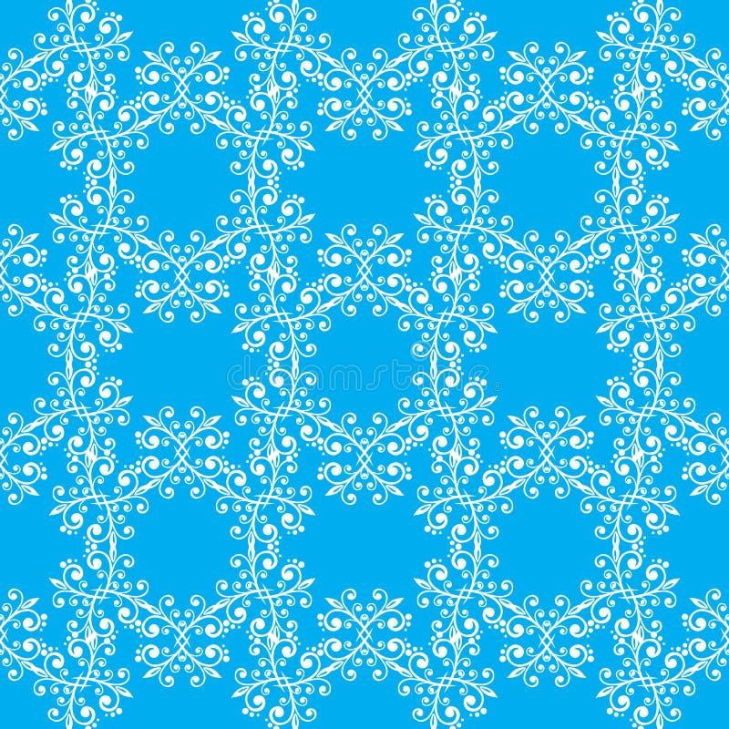 Download Modello Senza Cuciture Fine Blu Illustrazione Vettoriale - Illustrazione di floreale, wallpaper: 56885527