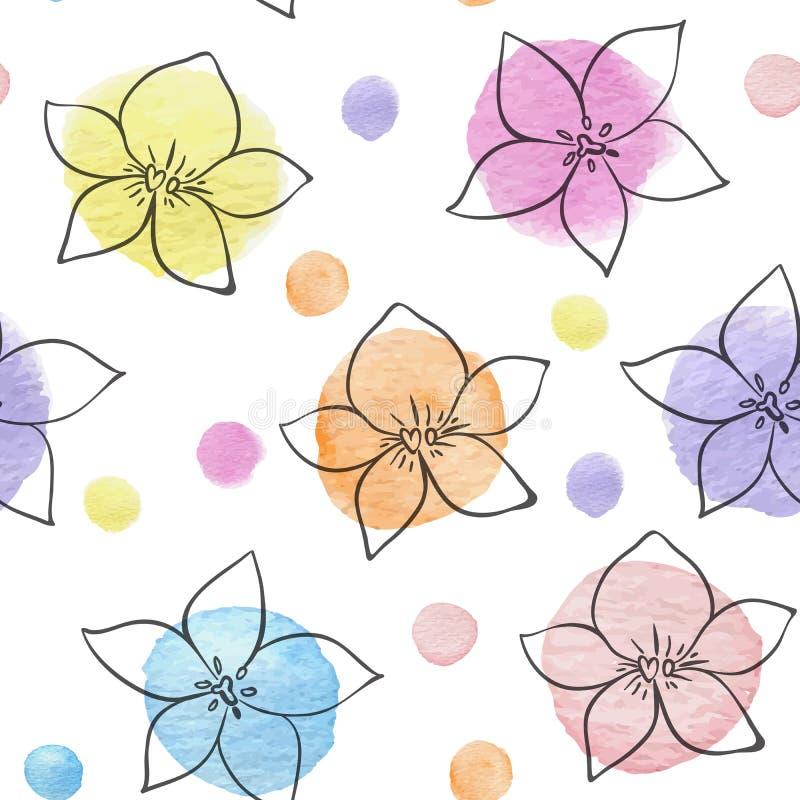 Modello senza cuciture floreale astratto illustrazione vettoriale