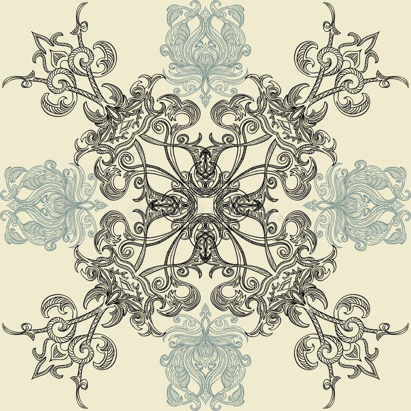 Modello senza cuciture floreale con l'ornamento arabo islamico royalty illustrazione gratis