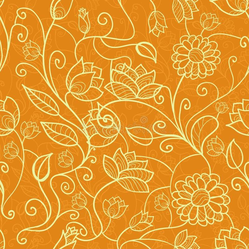 Modello senza cuciture floreale d'annata royalty illustrazione gratis