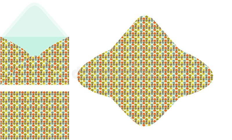 Modello senza cuciture floreale della busta C6 illustrazione di stock