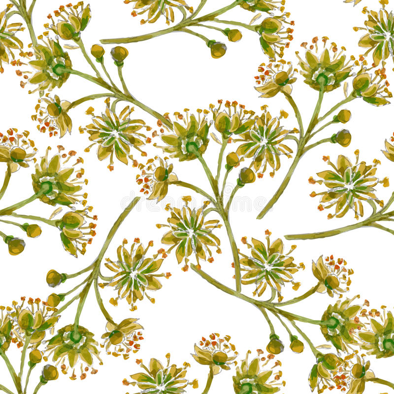 Download Modello Senza Cuciture Floreale Di Vettore Illustrazione Vettoriale - Illustrazione di artistico, spazzola: 55358294