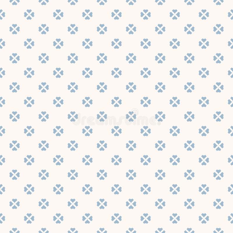 Modello senza cuciture floreale di vettore Struttura geometrica astratta blu-chiaro e bianca illustrazione vettoriale