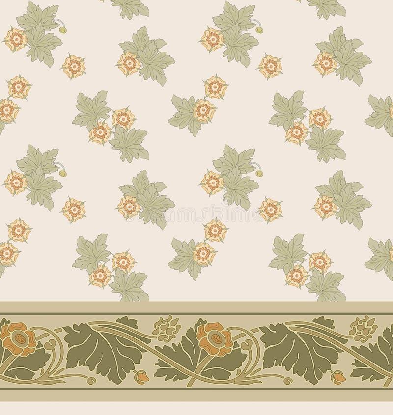 Modello senza cuciture floreale moderno per la vostra progettazione Vettore Fondo royalty illustrazione gratis