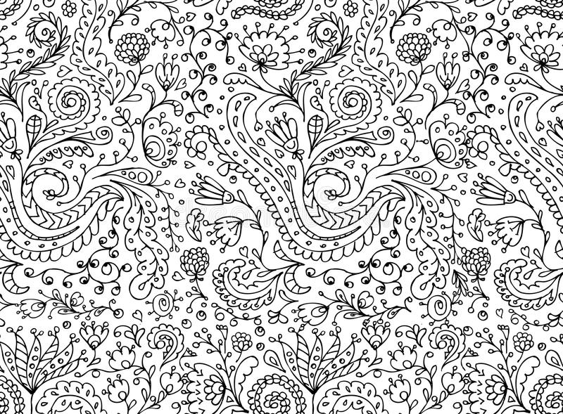 Modello senza cuciture floreale ornamentale per la vostra progettazione royalty illustrazione gratis