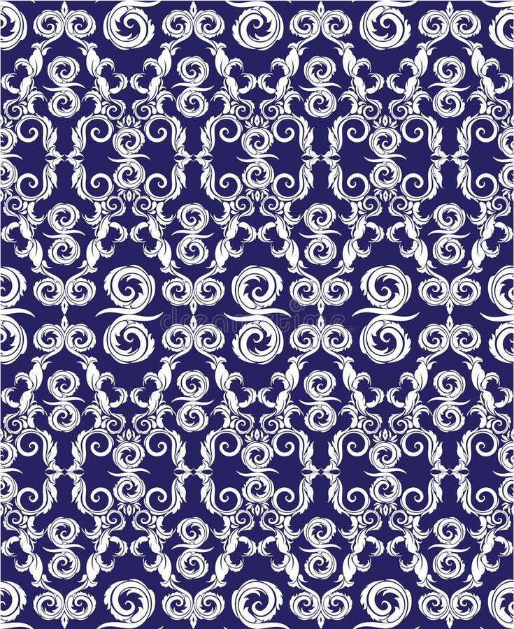 Modello senza cuciture - fondo dell'ornamentale del damasco illustrazione vettoriale