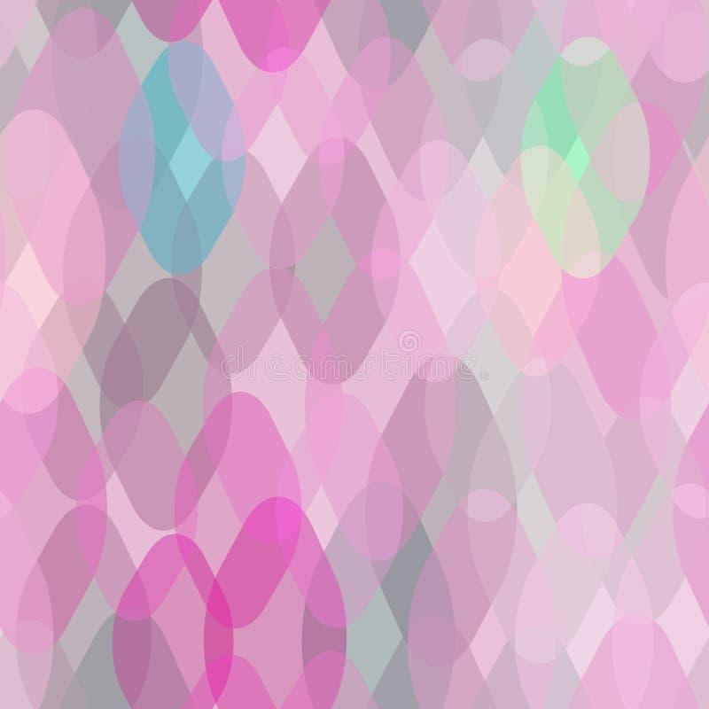 Modello senza cuciture geometrico astratto con gli elementi contemporanei decorativi dello squama e del rombo Gray porpora g del  illustrazione vettoriale