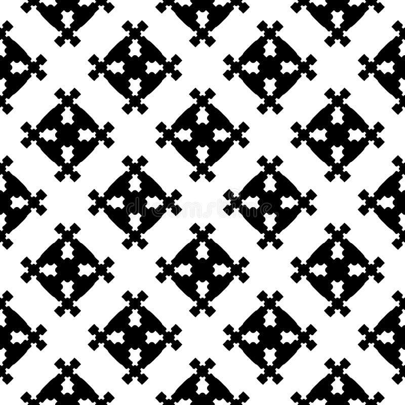 Modello senza cuciture geometrico astratto, figure quadrate illustrazione vettoriale